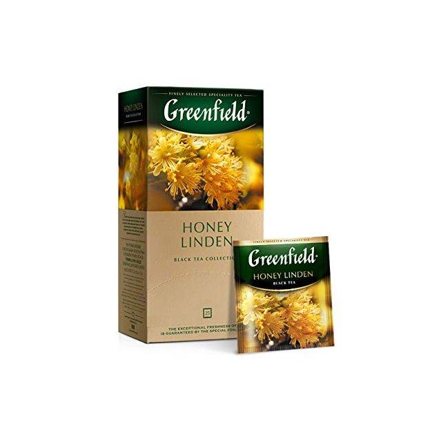 Honey Linden Svart Te Greenfield, 25 puser x 1,5g